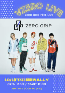¥ZERO LIVE ※無料ライブ @ 新宿WALLY